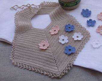 Bib ecru lace crochet