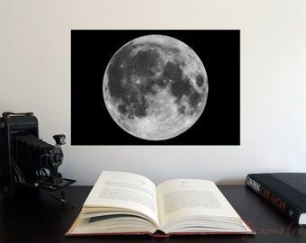 """Full Moon 19"""" x 13"""" Poster - Science Astronomy Wall Art - Window on the Universe series"""