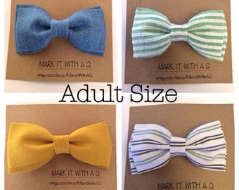 Adult Size Bowtie In a Any Fabric In the Shop In Adult Size