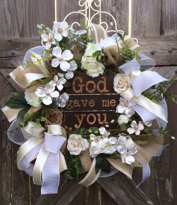 Wedding Door Decorations Ideas: Wedding Decoration Everyday Wreath Burlap Wreath Wedding