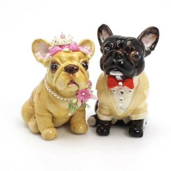 Bulldog Figurine For Cake Topper