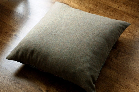 Natural Hessian/Burlap Floor Cushions filled with by CowDogDesign
