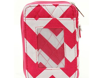 Quilted Chevron Wristlet Wallet