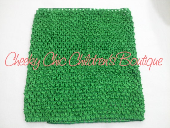 10x9 inch KELLY GREEN Crochet Tutu Dress Tube Top [CB10KY]