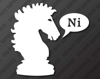 Monty Python Inspired - Knights Who Say Ni - Vinyl Decal