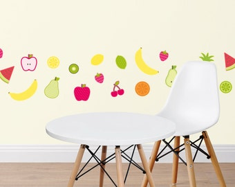 Fruit Salad Fabric Wall Stickers | Wall Decals | Nursery & Kids decor