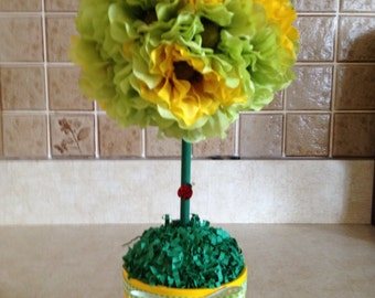 Topiary, Spring Topiary. Silk Floral Topiary, Floral Topiary, Handmade Topiary, Handmade Spring Topiary, Mothers Day Gifts