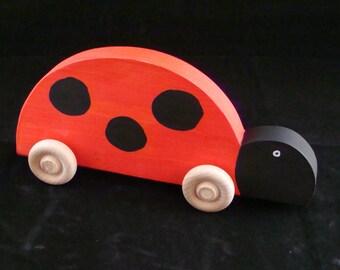Handmade Wooden Ladybug Red