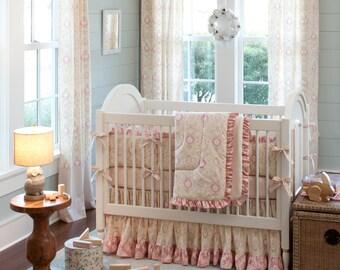 Girl Baby Crib Bedding: Juliet 4-Piece Crib Bedding Set by Carousel Designs