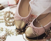 Flats with ribbon bow ballet style