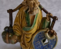 Chinese Antique Shiwan Mudman Sage Figurine Pottery