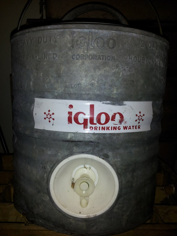 1940s vintage igloo water cooler galvanized steel - Igloo vintage ...