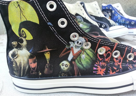 The Nightmare Before Christmas Custom Converse All by ArkhamPrints