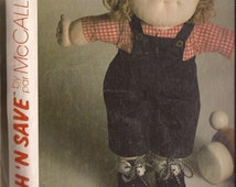 SALE McCalls 2015 Shirt and Overalls for Cabbage Patch Doll Pattern