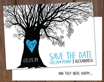 Carved Tree Save-The-Date
