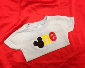 One Two Mickey Mouse Birthday Shirt 1st birthday 2nd birthday