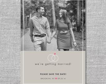 Photo Save the Date Card | DIY Printable or Printed | 5x7