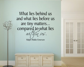 What Lies Within Us ~ Large Vinyl Wall Decal
