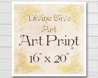 Digital Art Print 16x20 - Printable wall decor, Art print, made to match all my designs