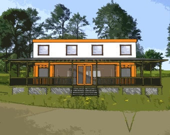 Shipping Container Home Plans 4 Bed 4 Bath - Schematic Design 3200 sf