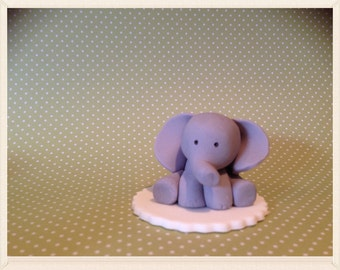 Baby elephant cup cake  toppers X 12