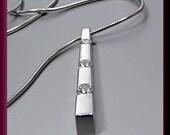 Vintage Designer Movado 18K White Gold Diamond Pendant/Necklace
