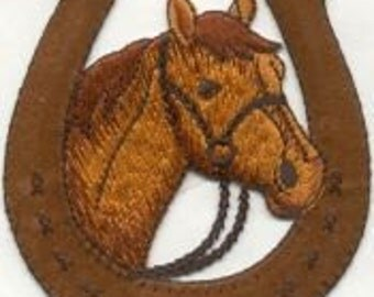 Awesome Horse Patch, Equestrian Horse, horse shoe iron on Patch