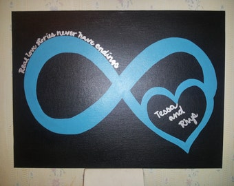 Hand Painted ----- Infinity Heart