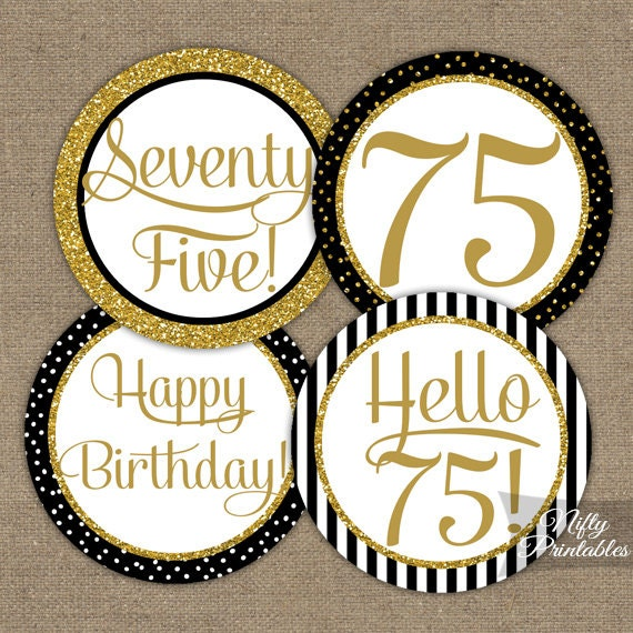 75th birthday giveaway ideas