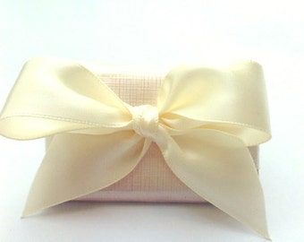 Wedding Favors with Satin Bow Rectangle Chocolate Bridal Shower Favors, Engagement, Birthday Favors