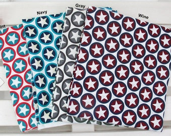 Laminated Cotton Fabric Star in 4 Colors By The Yard