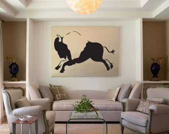 Bison Buffalo African Pattern Wall Decal