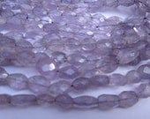 13 inch brazil amethyst  feceted oval beads gemstone  6x9mm 7x10mm to 8x12mm