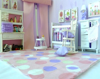 Child's room nursery accessories ensemble dollhouse miniature 1/12 scale