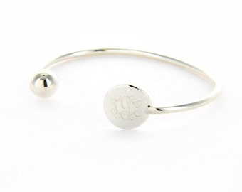 Monogrammed Cuff with Ball