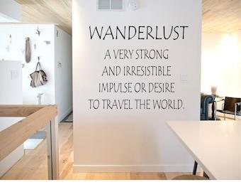 Wanderlust Wall Decal