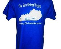 Popular items for kentucky home tshirt on etsy for Custom t shirts lexington ky