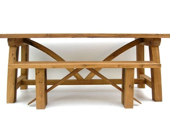 Contemporary Reclaimed Oak Refectory Table