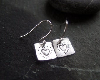 Silver, silver drop earrings, silver dangle earrings, sterling silver earrings, silver 925 handmade