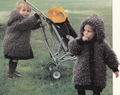 Instand download Knit Knitting Patterns BABY COAT Jacket up to 46cm ~  PDF Pattern
