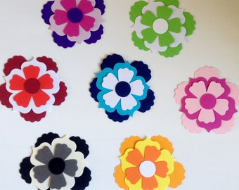 30 Large stampin'up Layering Flowers for cards/toppers cardmaking scrapbooking lots of ways to layer