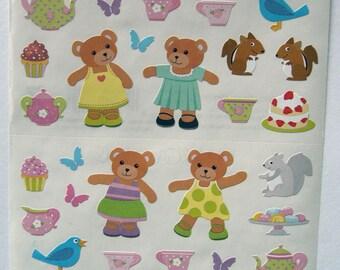 Cute Teddy Bear Picnic Stickers Mrs Grossman S Stickers