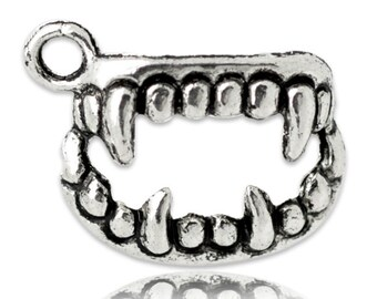 Vampire Fang Teeth Charms Halloween Pendants Cosplay Charm 4/10/20 4245