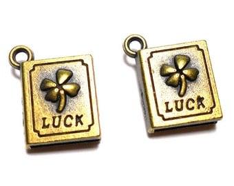 2 Luck Charms, Luck Charms, Cloverleaf Charms, Cloverleaf Charm, Luck Charm, St. Patrick Charms, Irish Charms, Good Luck Charms, BC0039