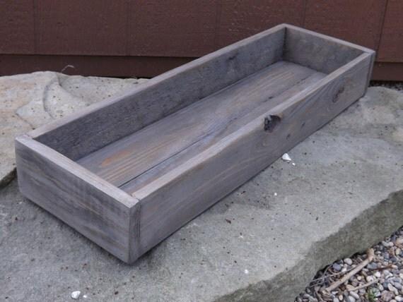 Trough wood centerpiece table wedding