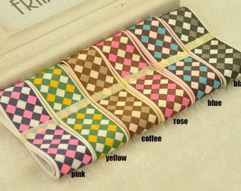 NEW Grosgrain Ribbon - Choose Color and Length -  lattice Grosgrain Ribbon Supplies