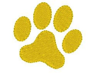Pawprint Embroidery Design Mini