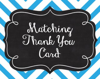 Thank You Card, Printable matching thank you card.