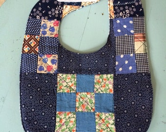 Quilted Baby Bib ~ Upcycled