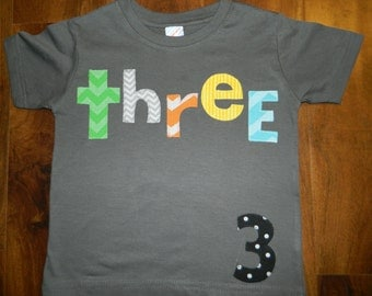 Toddler Birthday Shirt, Toddler Boy Birthday Shirt, 3rd Birthday Shirt